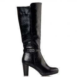 Μπότες Miss NV από συνθετικό δέρμα με χοντρό τακούνι